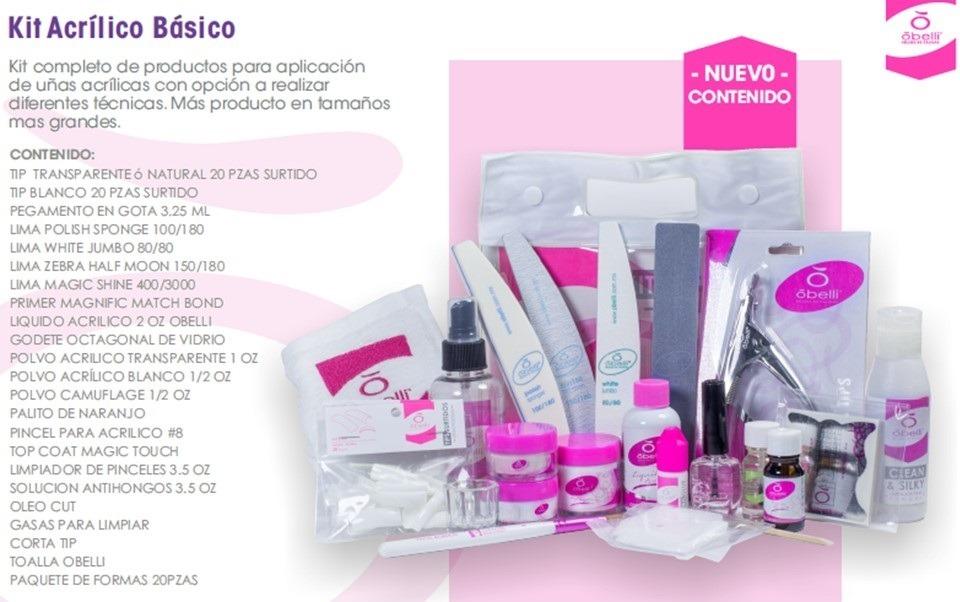 Obelli Kit De Uñas Acrilico Basico