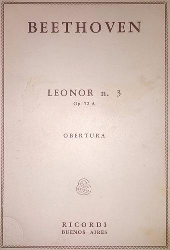 obertura orquestal no. 3 leonor (op 72.a), de beethoven