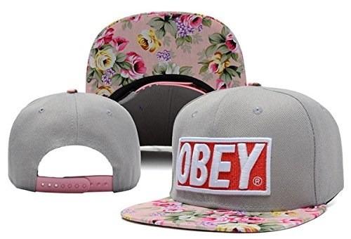 obey gorra con flores (lo ultimo en tendencia) rosas