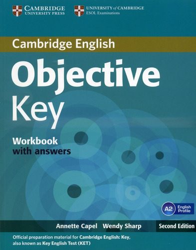 objective key workbook with key 2nd edition  de capel annett