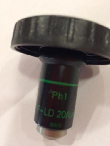 objetiva ld 20x/0,25 ph1 - fase - microscópio invertido