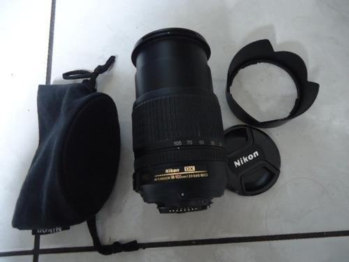 objetiva nikon 18-105 mm semi nova