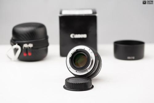 objetivo canon 50 mm f/1.4 usm + estuche rígido estado como
