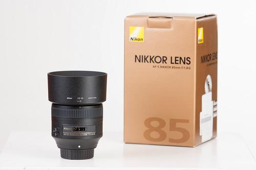 objetivo nikon 85 mm 1.8 g en excelentes condiciones