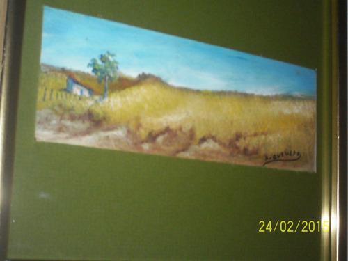 obra arturo quevedo,oleo sobre carton premio municipal amb p
