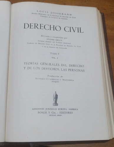 obra completa derecho civil louis josserand 8 tomos 1952
