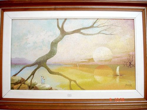 obra de araújo ost paisagem datado de 1995 40x70cm