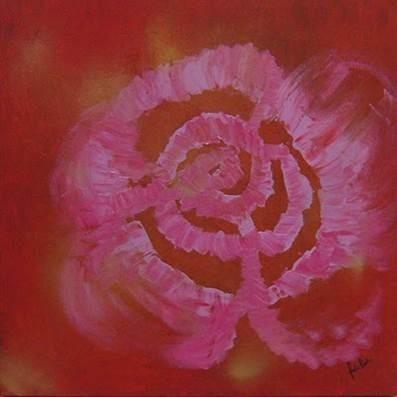 obra de arte paula fraga - a rosa mística ix