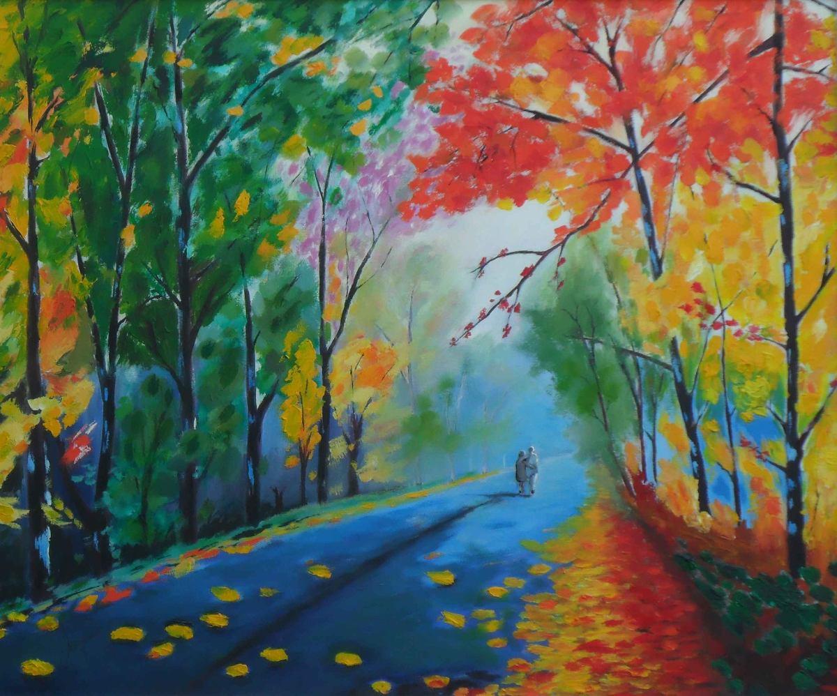 Obra de arte quadro original novo pintura leo sobre for Idea de pintura de corredor