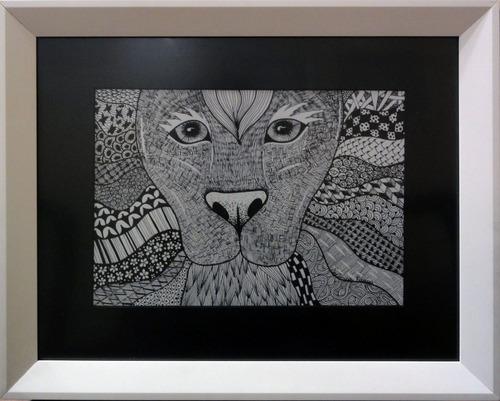 obra de arte verônica fraga - leão