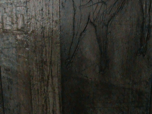 obra  de saul huerta 182 x 136 tecnicas mixtas sobre madera