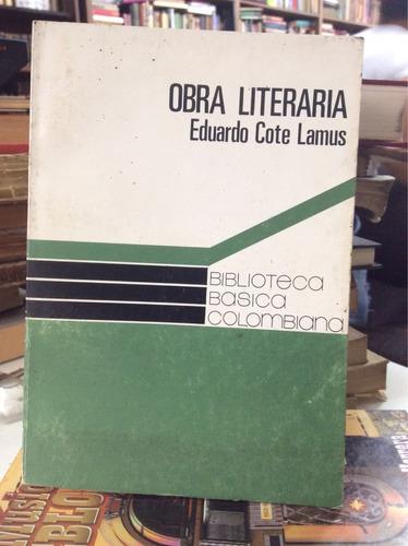 obra literaria - eduardo cote lamus