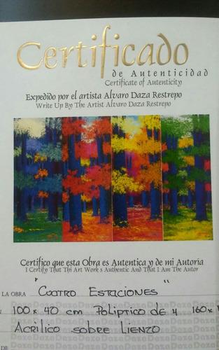 obra original del maestro alvaro daza  las cuatro estaciones