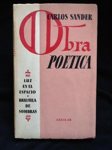 obra poética - carlos sander - firmado y dedicado
