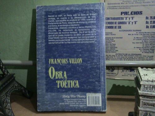 obra poética de francois villon