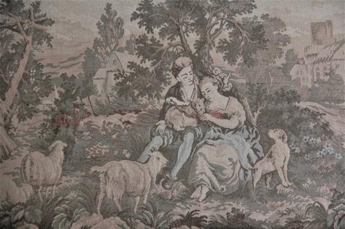 obra tapeçaria gobelin original proc frança 1952 pos guerra