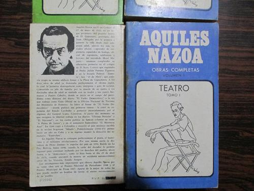 obras completas  de aquiles nazoa teatro/prosa
