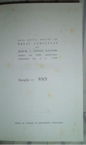 obras completas de manuel y antonio machado - tapa dura