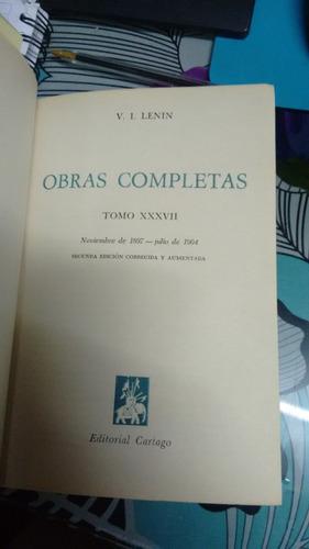 obras completas tomo xxxvii // v.i. lenin