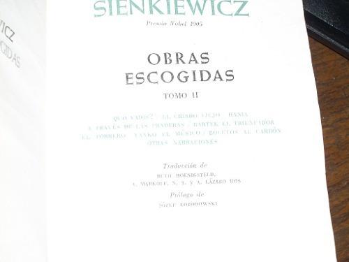 obras escogidas sienkiewicz ii - aguilar ver foto contenido