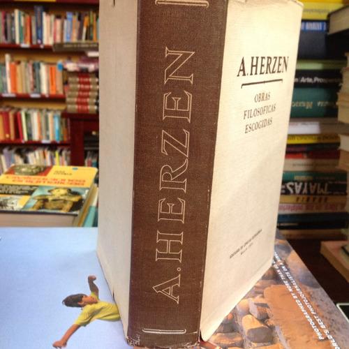 obras filosóficas escogidas. a. herzen.