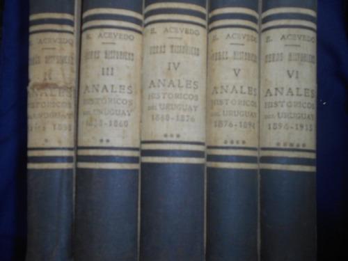 obras históricas - eduardo acevedo ( cinco tomos)