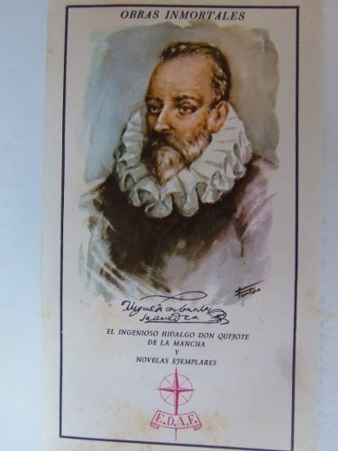 obras inmortales cervantes papel biblia don quijote etc lujo