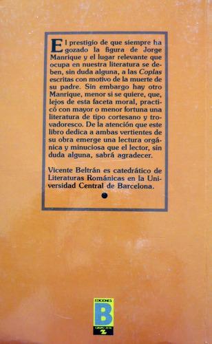 obras, jorge manrique, ediciones b