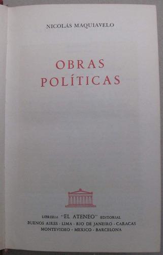 obras políticas - nicolás maquiavelo - luis navarro