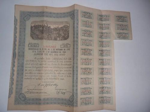 obrigação de guerra-valor nominal 100,00