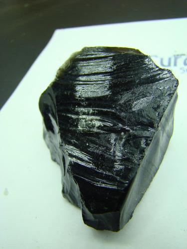 obsidiana preta negra pedra natural bruta 500 gramas