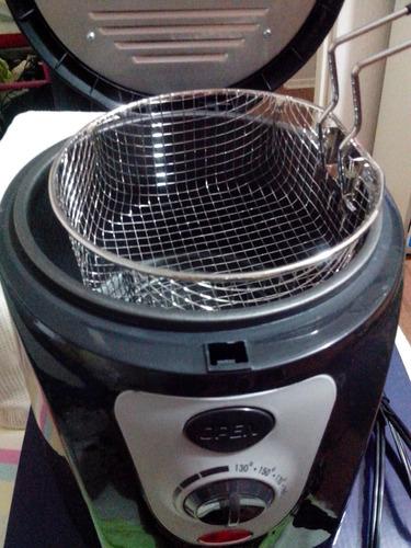 ocacion nueva  olla freidora eléctrica  y canastilla metalic