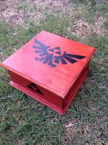 ocarina del tiempo + caja hecha a mano juego zelda