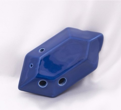 ocarina rupia s.t.l. rupee zelda azul nueva con tablaturas