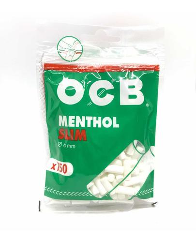ocb filtros slim 150u menthol  candyclub local once