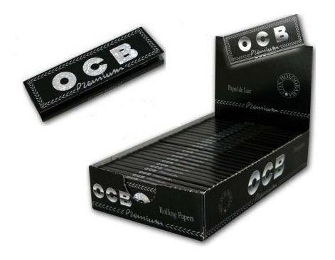 ocb premiun  1 1/4 caja de 25 unidades 50 hojas