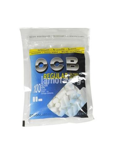 ocb regular filtros x500 premium para armar cigarrillos ryo