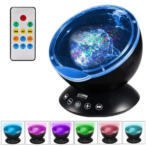 ocean wave proyector night light con control remoto y 7 modo