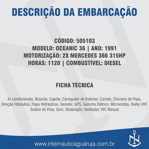 oceanic 36 1991 intermarine ferretti carbrasmar cobra mares