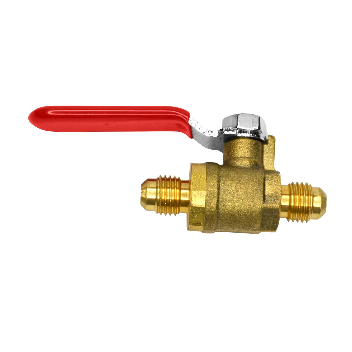Male Flare OCSParts MTLB-4F 1//4-2 Brass Ball Valve Pack of2 Lead Free