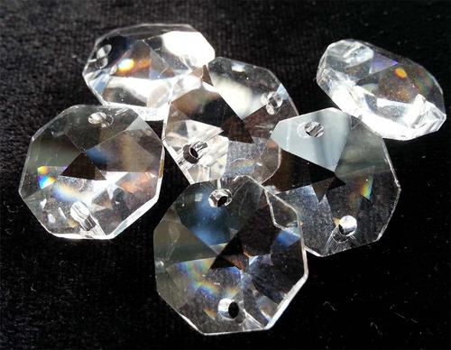 octagonales de cristal cortado d 14 mm para candil, cortina