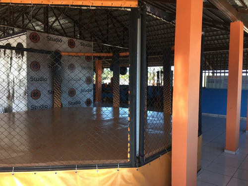 octógono 5x5m para artes marciais em ótimo estado