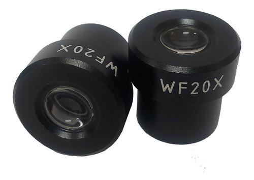 ocular de 20x para microscópio biológico (par)