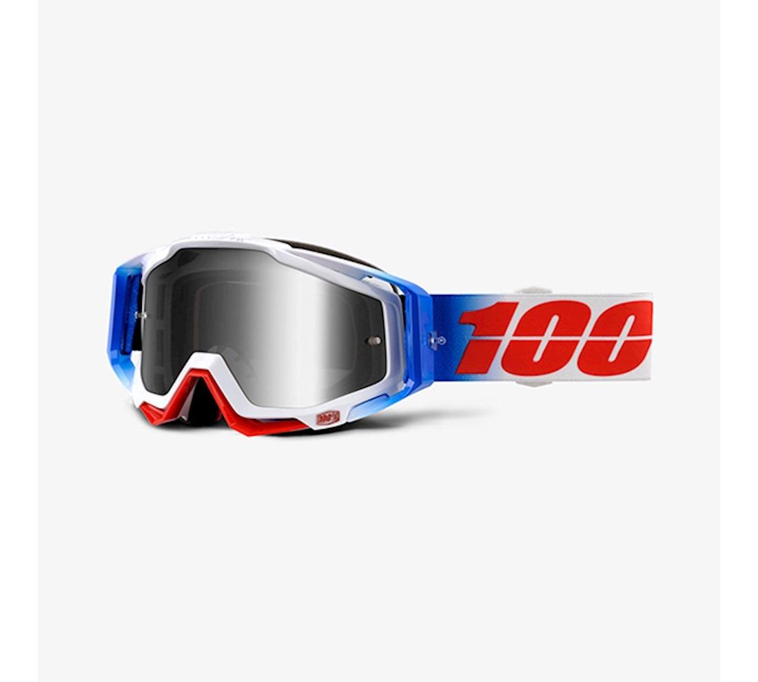 b778ea8e15f0c Óculos 100% Racecraft 2018 Fourth Branco azul - R  349