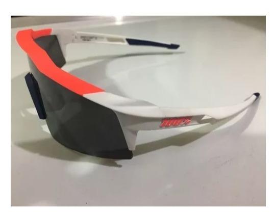 04316854555123 Óculos 100% Speedcraft Hiper Red Multilayer Mirror Lens - R  990