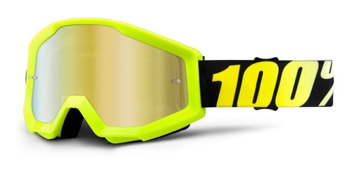 oculos 100% strata neon yellow - espelhado