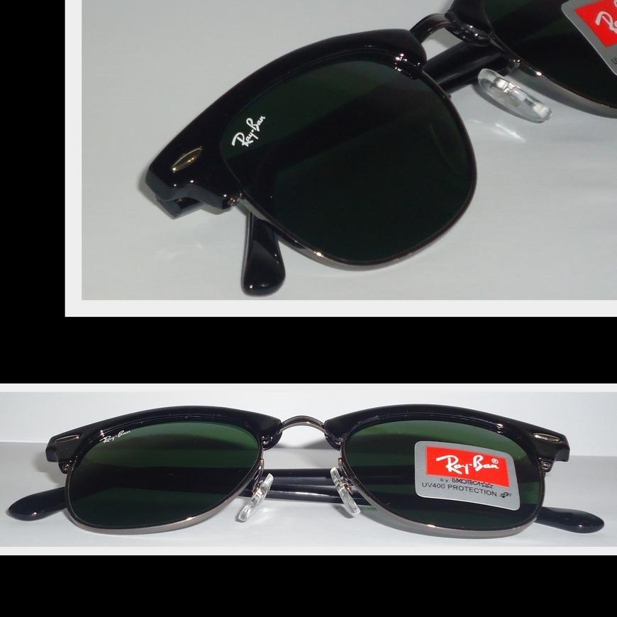 óculos 3016 clubmaster preto grafite lentes verdes 48mm. Carregando zoom. 86636a227e