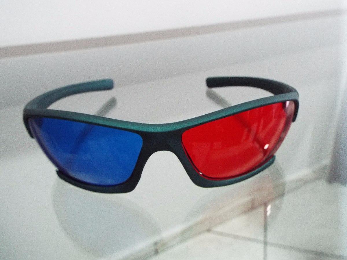 51bd446c6fc6a óculos 3d anaglifo vermelha azul muldura na cor verde. Carregando zoom.