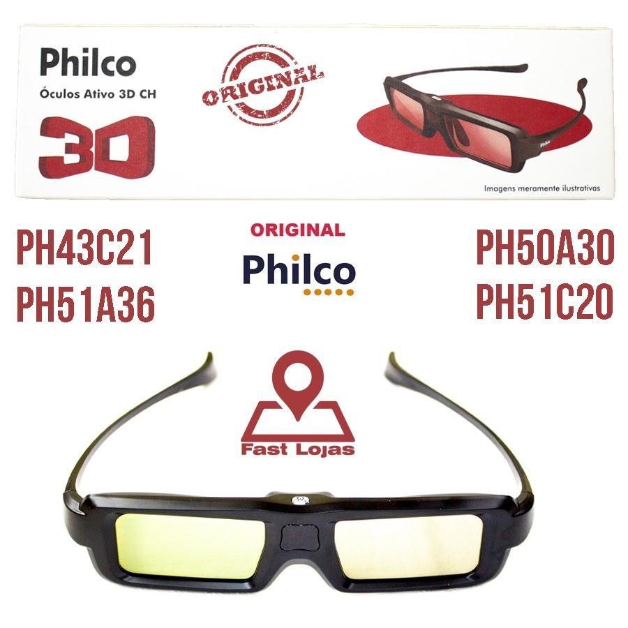 02186abede98f Óculos 3d Ativo Tv Plasma Original Philco - Envio Imediato - R  39 ...