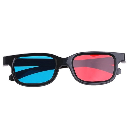 óculos 3d azul vermelho para jogo dimensional